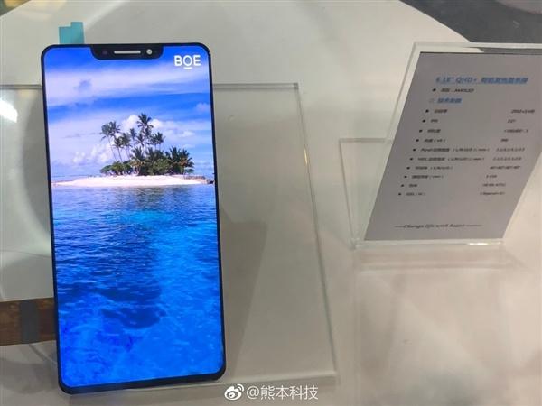 BOE показала шестидюймовый дисплей AMOLED, похожий на экран iPhone X