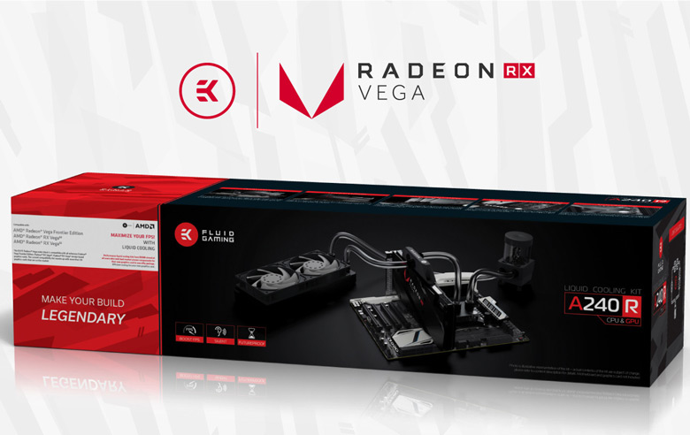 Водоблок с полным покрытием EK-AC Radeon Vega можно также купить отдельно от комплекта