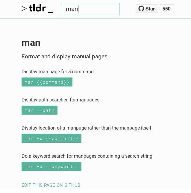 tldr — альтернатива man с названием, говорящим за себя - 4