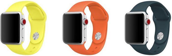 Apple выпустила новые чехлы для iPhone и ремешки для Apple Watch Sport