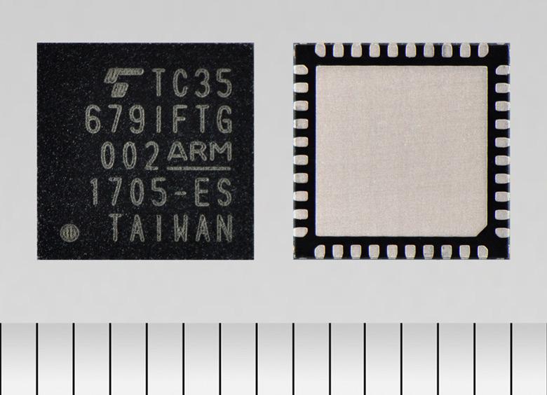 Конфигурация TC35679IFTG включает процессор ARM Cortex-M0, 384 КБ масочного ПЗУ и 192 КБ ОЗУ