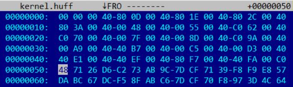 Восстановление таблиц Хаффмана в Intel ME 11.x - 2