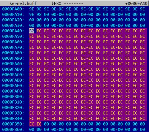 Восстановление таблиц Хаффмана в Intel ME 11.x - 4