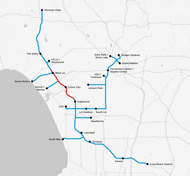 The Boring Company уже наметила себе карту туннелей под Лос-Анджелесом