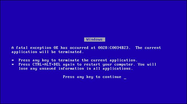 Краткая история «синего экрана смерти» - 3