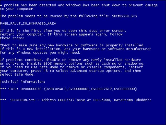 Краткая история «синего экрана смерти» - 5