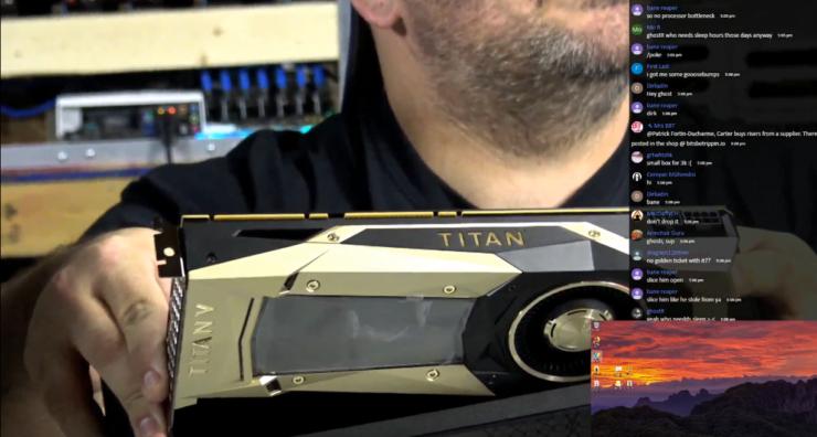 Nvidia Titan V показывает 70-77 MH/s при добыче Ethereum