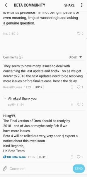 Android 8.0 для Samsung Galaxy S8 и S8+ появится в январе или феврале