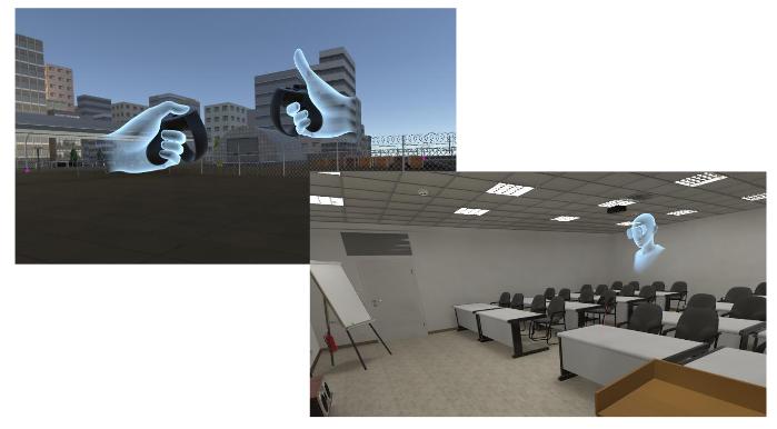 Скриншоты виртуального полигона и класса с аватаром