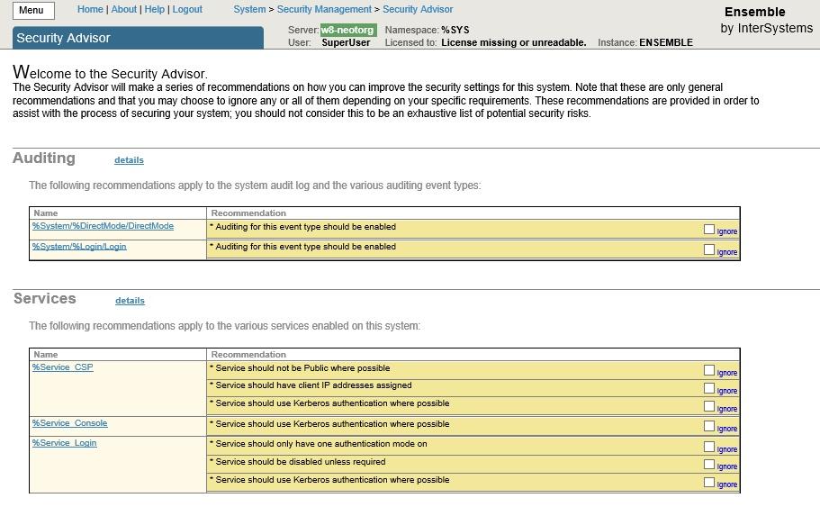 Рекомендации по установке СУБД InterSystems Caché в продуктовом режиме - 2