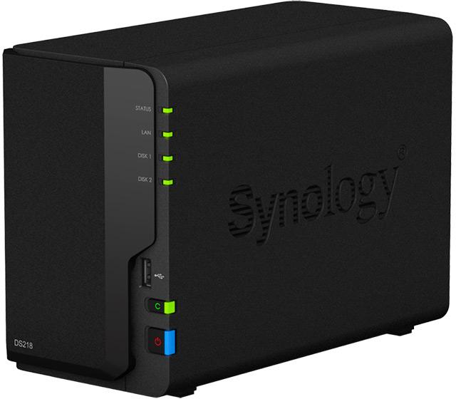Двухдисковое сетевое хранилище Synology DiskStation DS218 поддерживает перекодирование видео 4К