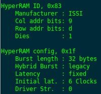 HyperRAM: использование микросхемы с интерфейсом памяти HyperBus - 8