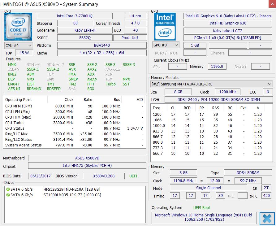 Обзор ноутбука ASUS N580VD - 16