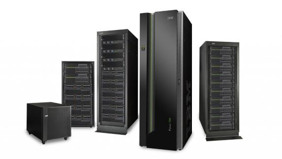 Рисунок 7. Линейка серверов IBM Power i