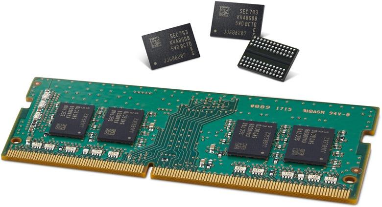 Это самые высокопроизводительные и энергетически эффективные микросхемы DRAM плотностью 8 Гбит