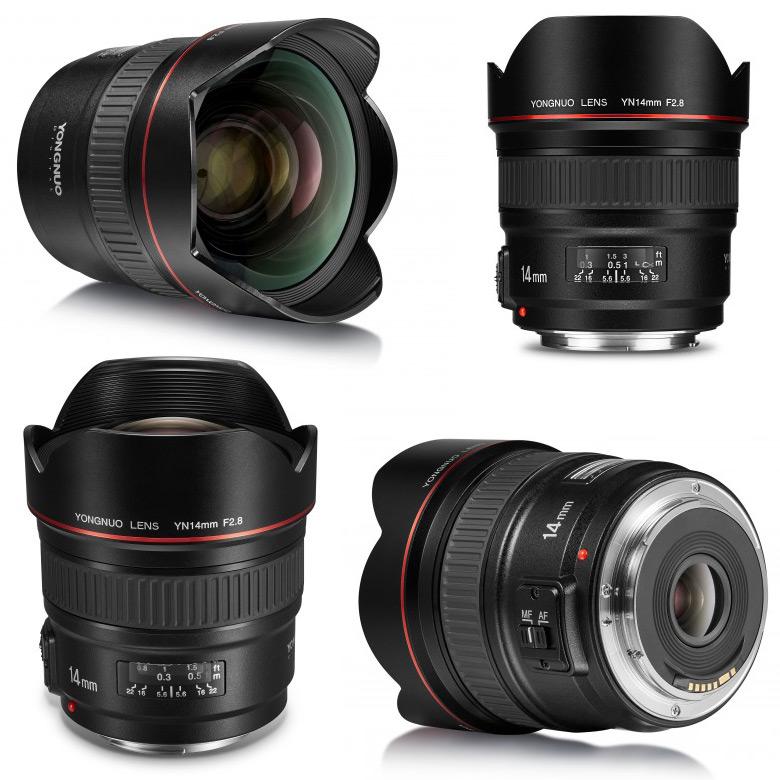 Сведений о цене и дате начала продаж объектива Yongnuo YN 14mm F2.8 пока нет