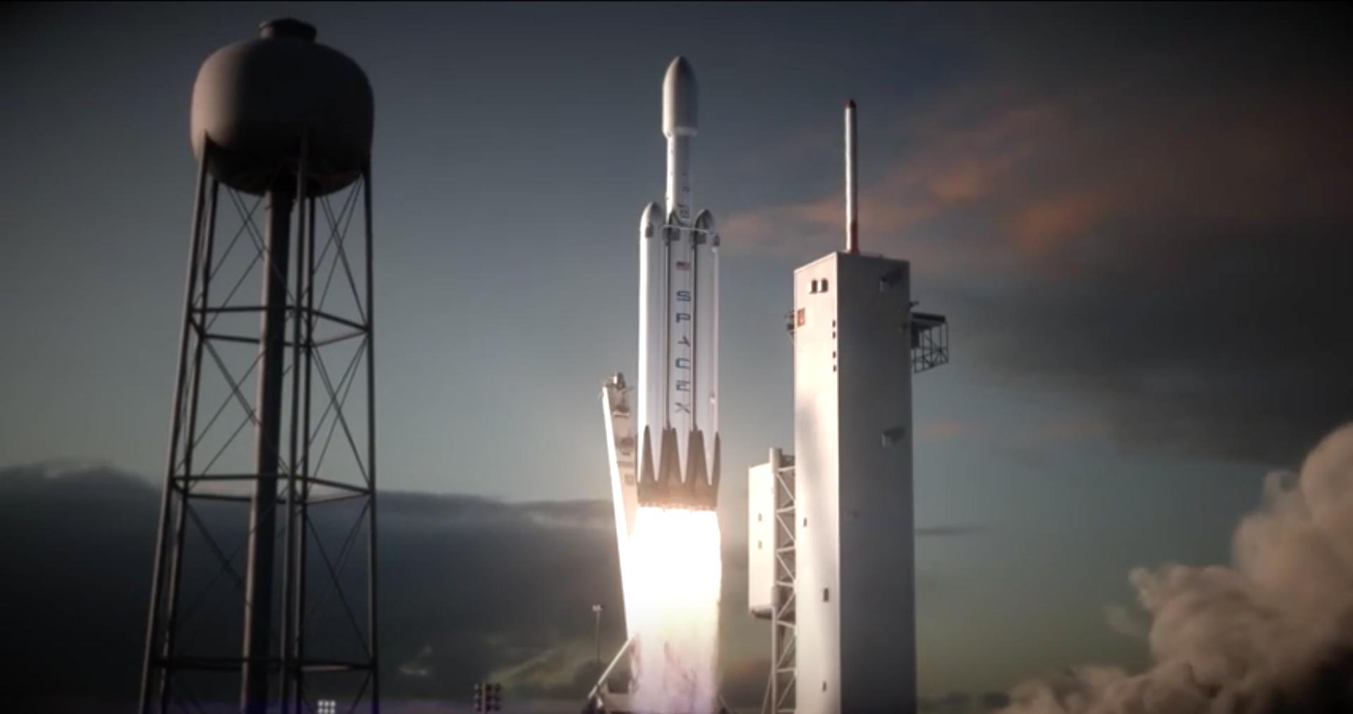Илон Маск показал новую ракету-носитель SpaceX Falcon Heavy - 1