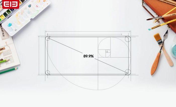 Экран смартфона Elephone S9 занимает 89,9% площади лицевой панели
