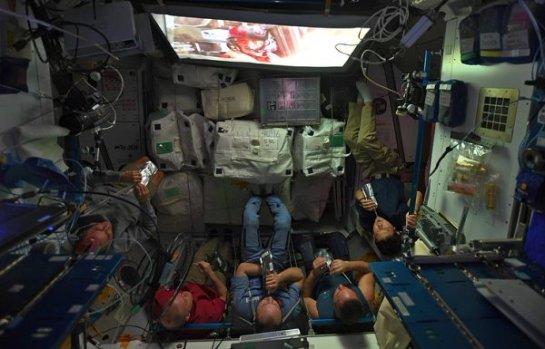 Восьмой эпизод «Звездных войн» был показан на МКС