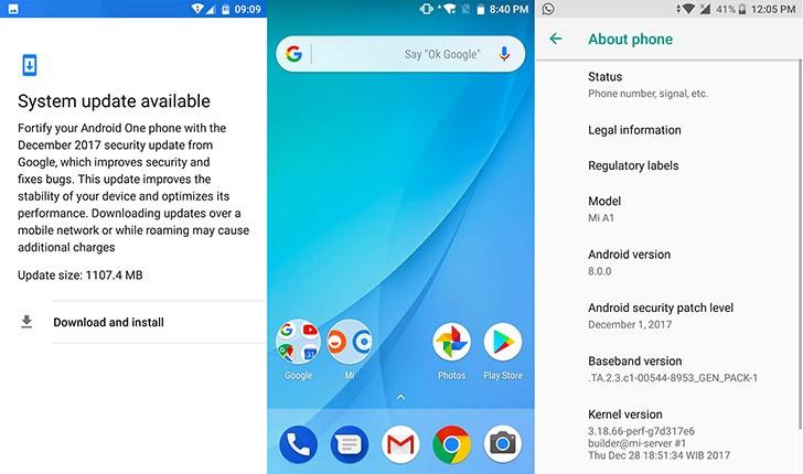 Вышло обновление Android 8.0 Oreo для смартфонов Xiaomi Mi A1