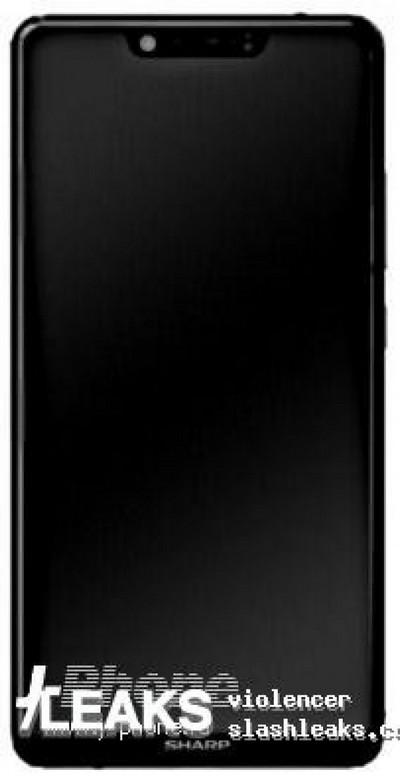 Дисплей смартфона Sharp Aquos S3 имеет вырез в верхней части, как у iPhone X