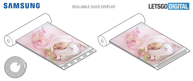 Специалисты Samsung изобрели устройство с экраном-свитком, разворачиваемым прикосновением пальца