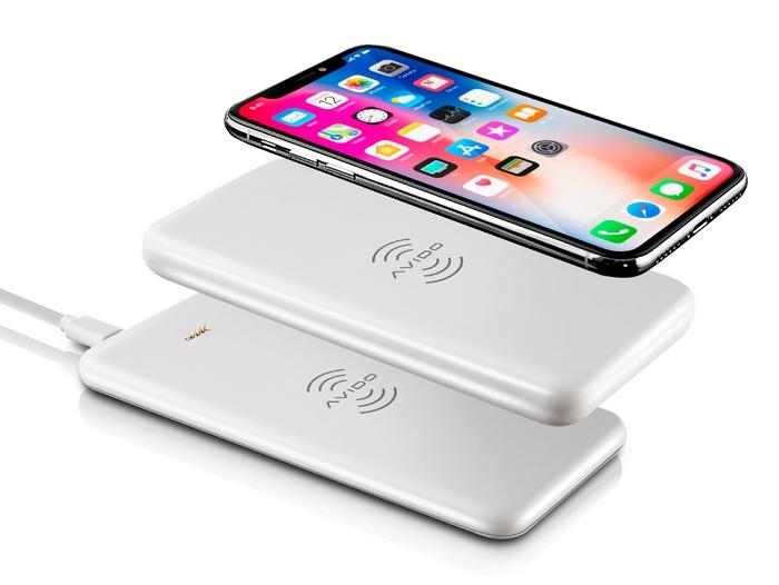 Портативный аккумулятор Avido WiBa предназначен для беспроводной зарядки мобильных устройств