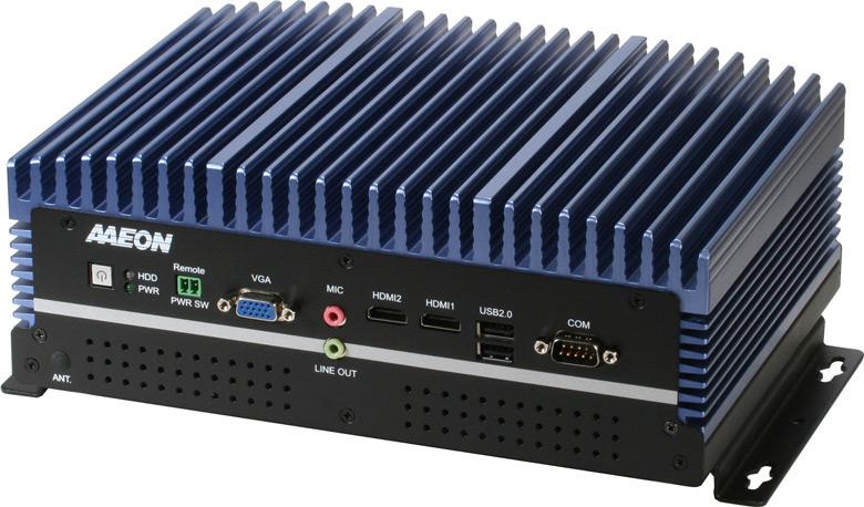Компьютер в усиленном исполнении Aaeon Boxer-6640M оснащен девятью сетевыми портами