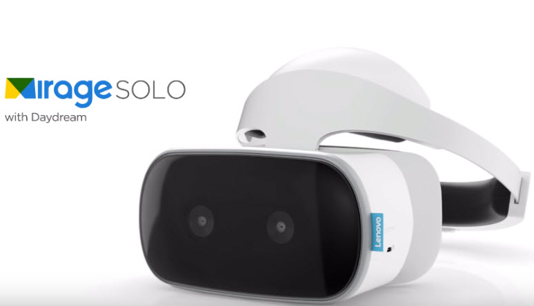 Представлена Lenovo Mirage Solo — первая гарнитура VR с поддержкой Google Worldsense