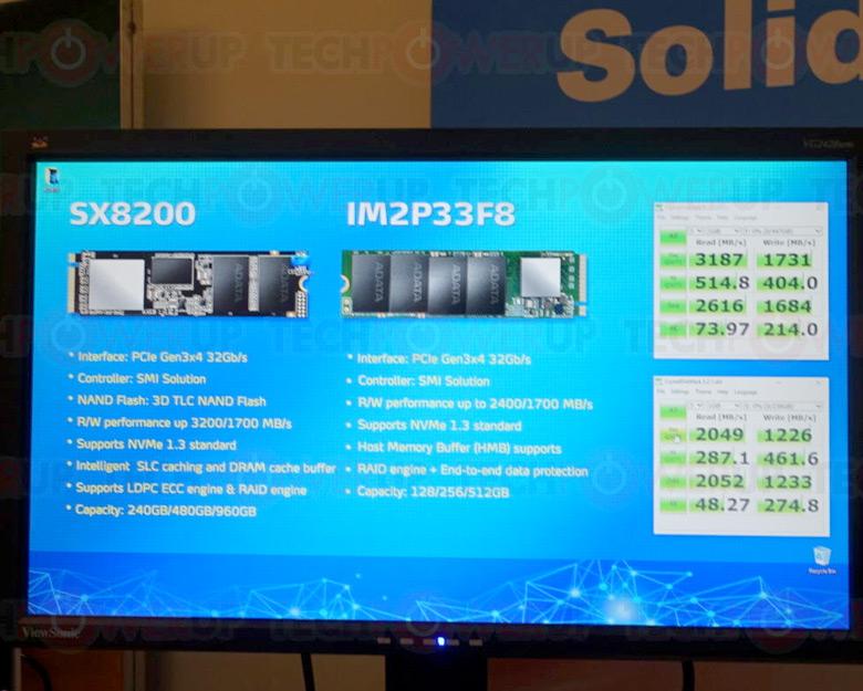 В модели XPG SX8200 используется контроллер Silicon Motion SM2262