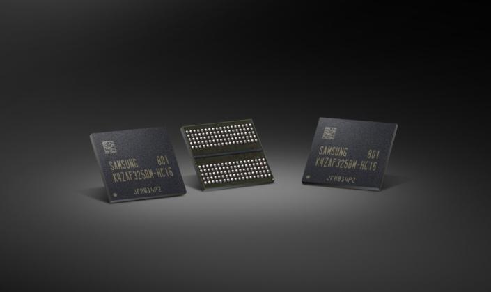 Samsung начала массовое производство микросхем GDDR6 плотностью 16 Гбит