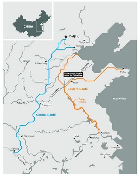 Водный канал в Китае оснащён огромным количеством датчиков