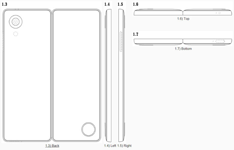 LG патентует складной смартфон с гибким экраном