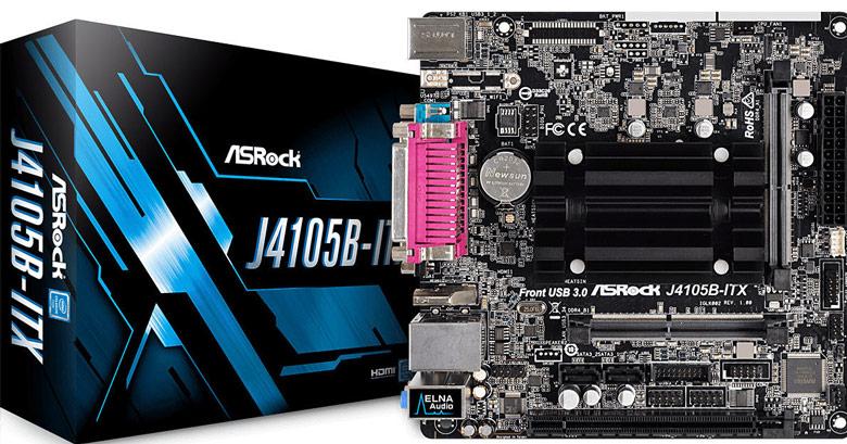 На системных платах ASRock J4105-ITX и J4105B-ITX установлены процессоры Intel Celeron J4105 (Gemini Lake)
