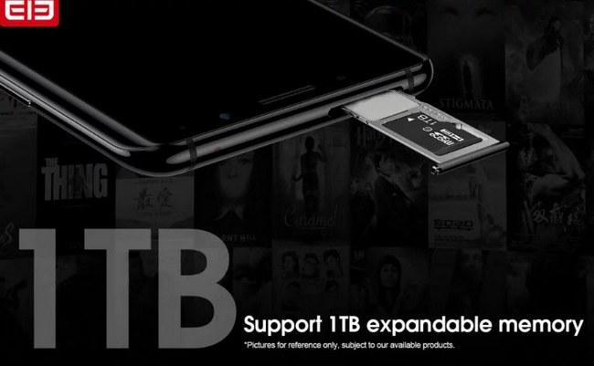 Смартфоны Elephone U и U Pro поддерживают карты памяти емкостью до 1 ТБ