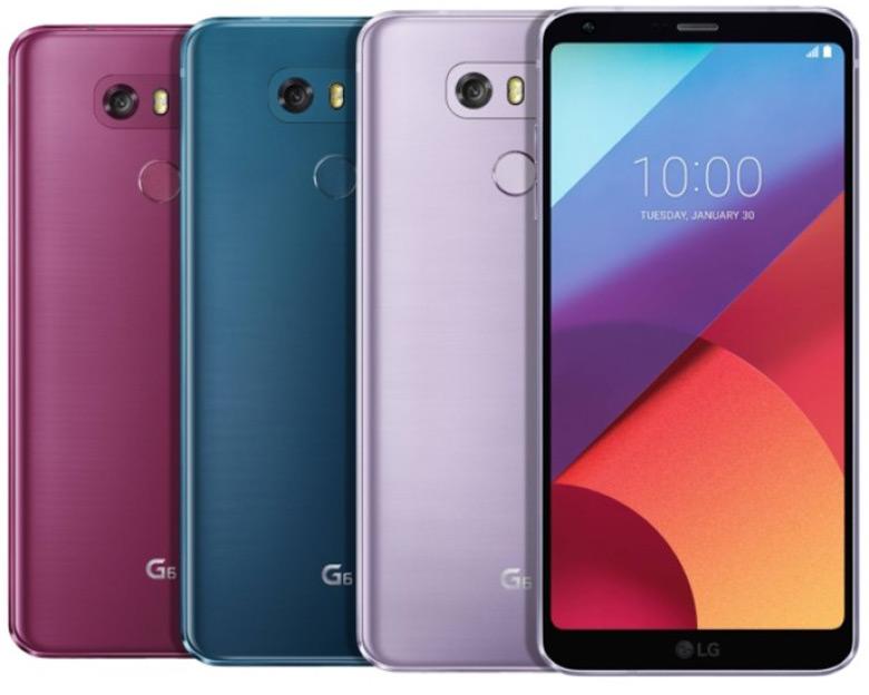 Сначала LG G6 и LG Q6 в новых цветах появятся в Южной Корее