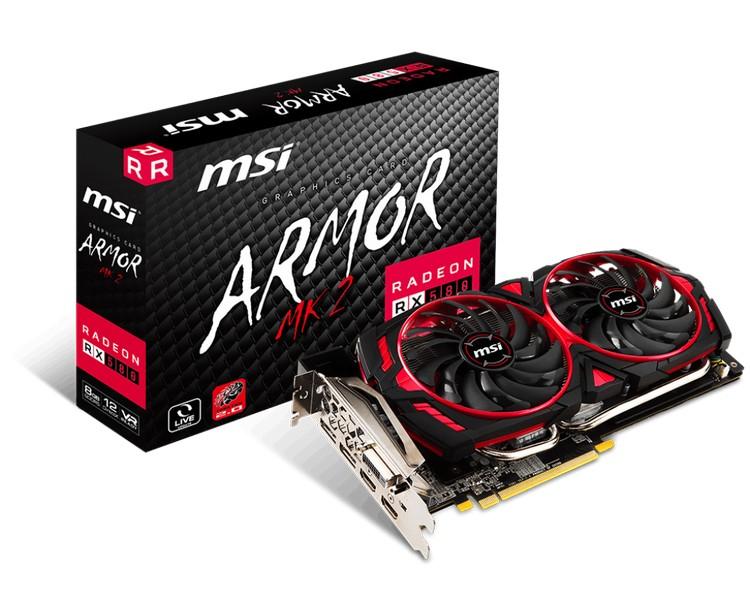 Карты MSI Radeon RX 580 Armor MK2 отличаются между собой лишь частотой GPU