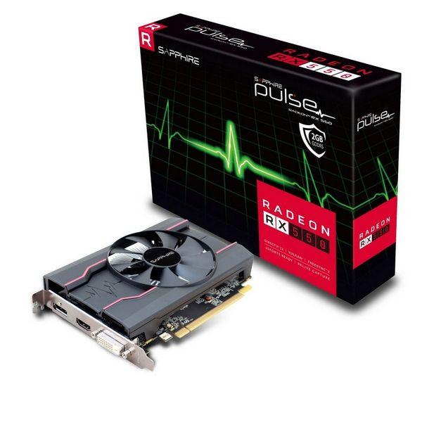 Видеокарты Sapphire Pulse Radeon RX 550 существуют в версиях с 640 потоковыми процессорами