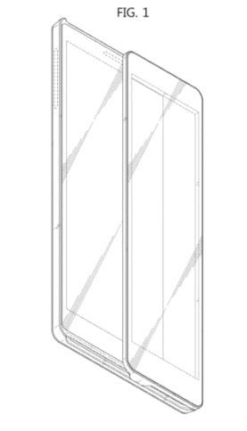 Samsung запатентовала слайдер с двумя сенсорными экранами