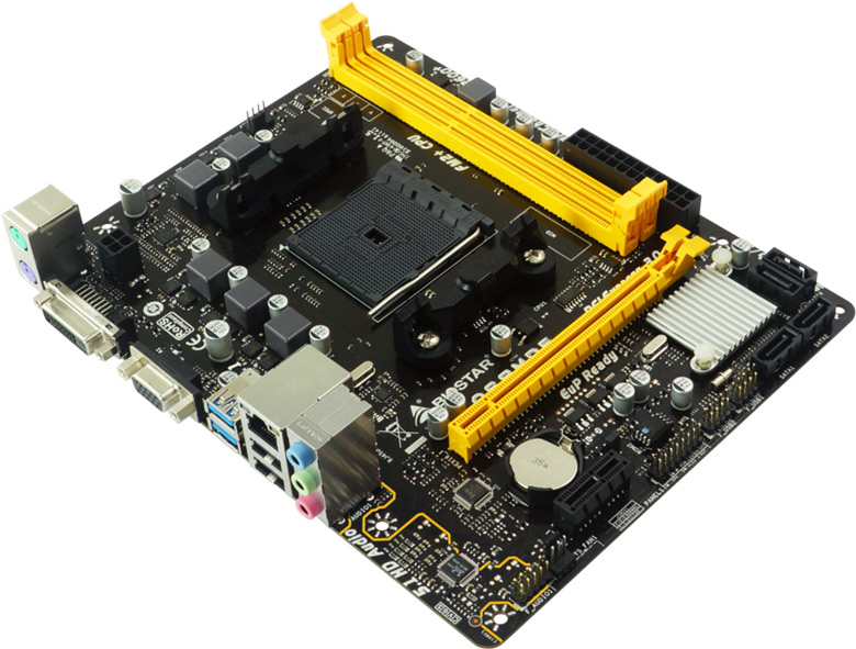 Системная плата Biostar A68MDE предназначена для домашних компьютеров начального уровня