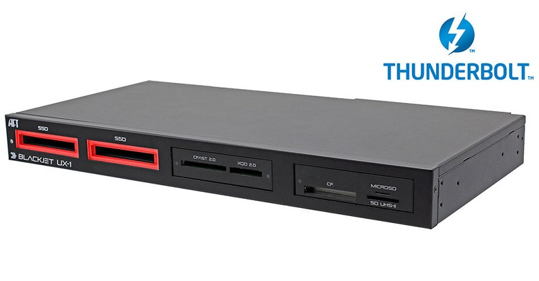 К хосту Atech Blackjet UX-1 подключается по интерфейсу Thunderbolt 3
