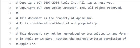 В Сеть попала часть исходного кода iOS 9