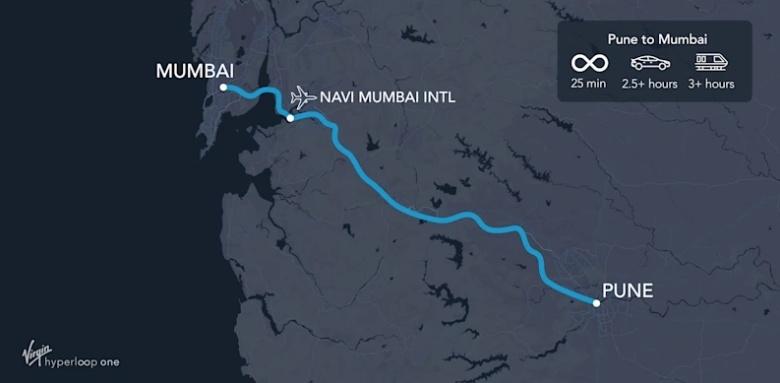 Virgin Hyperloop One хочет соединить веткой Hyperloop Мумбаи и Пуну
