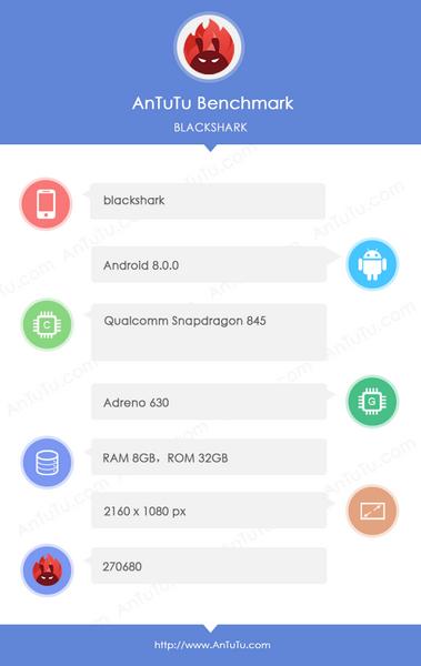 Игровой смартфон Xiaomi Black Shark может получить малый объём флэш-памяти
