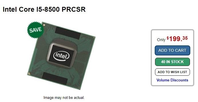 Новый CPU Intel Coffee Lake уже можно купить