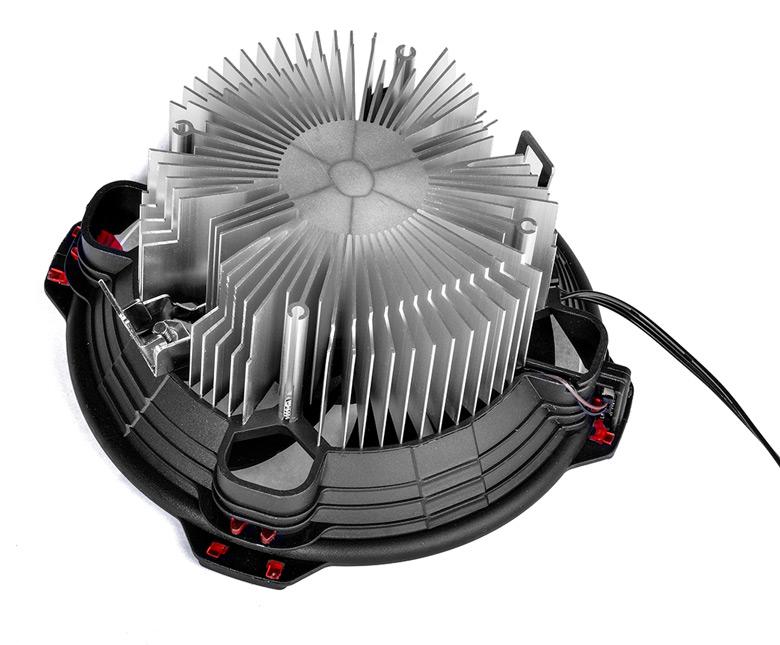 Габариты DK-03 Halo AMD Red — 130 х 130 х 63 мм, масса — 365 г