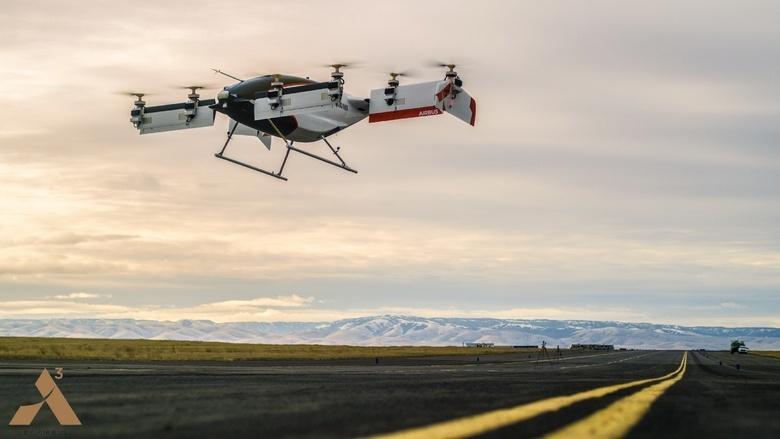 Airbus опубликовала видео с полётом Vahana
