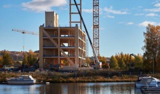 В Норвегии начали строительство самой высокой башни из дерева