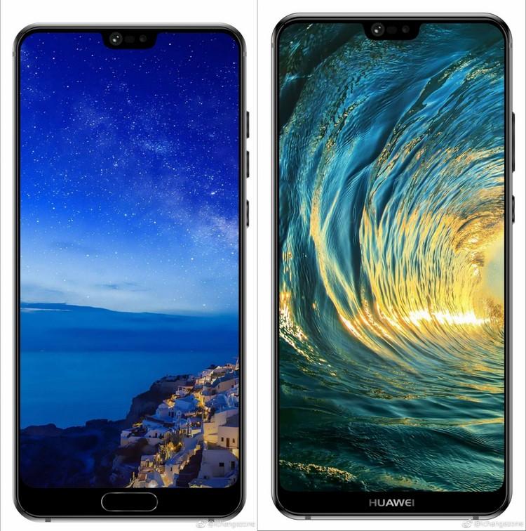 Опубликованы качественные изображения смартфонов Huawei P20 и Huawei P20 Plus